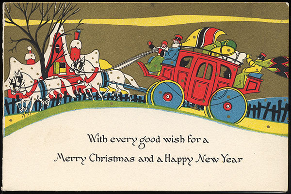 Antique Christmas Santa Postcards  and Vintage Illustrations (26)