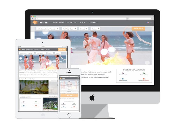 AnitaM Web Design - Fusion Resorts