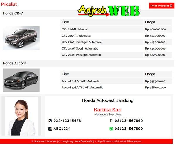 theme wordpress untuk dealer mobil online