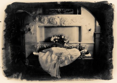 Sleeping Beauty lies in her place of honor, safe, but unmoving. She awaits the kiss that will reawaken her.