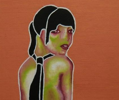 """Nude 2"", 2009 Öl auf Leinwand,  21x30 cm"