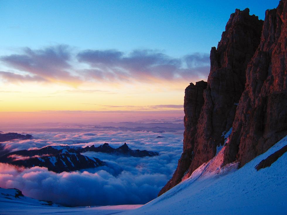 Unsuccessful attempt on Mount Rainier via the Emmons Glacier