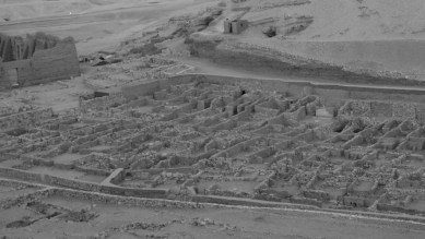 The remains of the ancient village at Deir el-Medina can still be seen today by tourists and archaeologists alike.