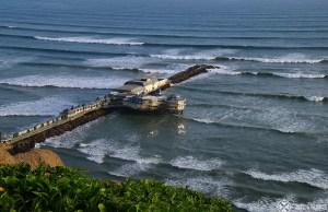 The pier of Miraflores in Lima Peru