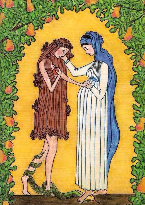 Virgin Mary Consoles Eve by Sister Grace Remington