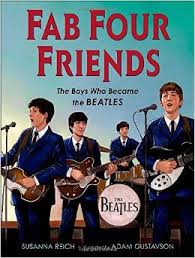 Cover of book showing the Beatles performing together