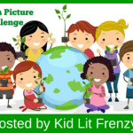 "Children surrounding a globe and the words ""Nonfiction Picture Book Challenge 2016"""