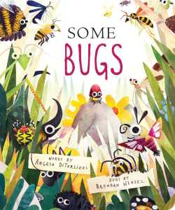 Cover of book, showing many, many bugs in grass.
