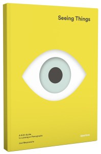 Cover of Seeing Things features a large eye looking at reader.