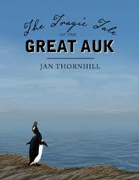 Cover of book shows a Great Auk on a rocky shore.