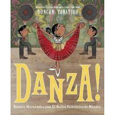 Cover of Danza! shows Mexican folk dancers