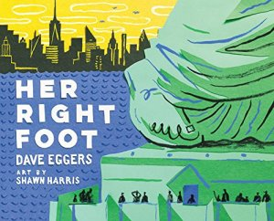 Cover of book shows the right foot of the Statue of Liberty