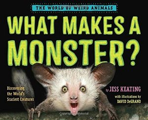 Cover of book shows face of aye-aye