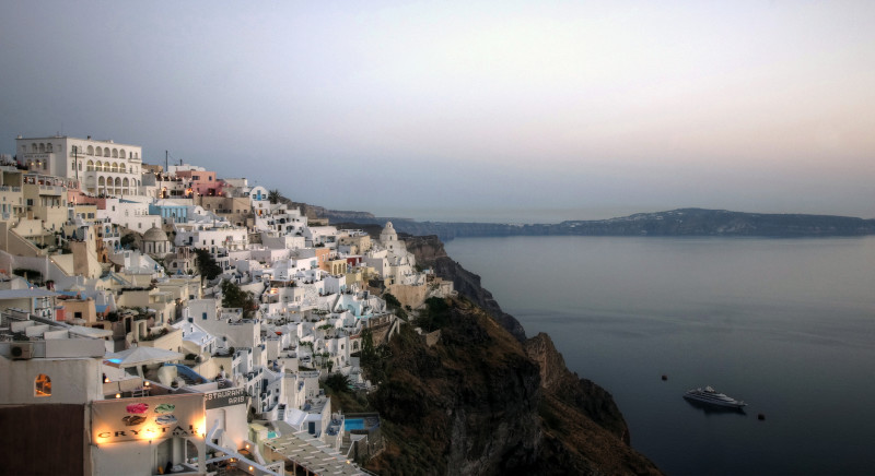 Sunset in Greece - Visiting this destination during an economic meltdown