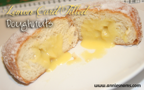 Lemon Curd Filled Doughnuts