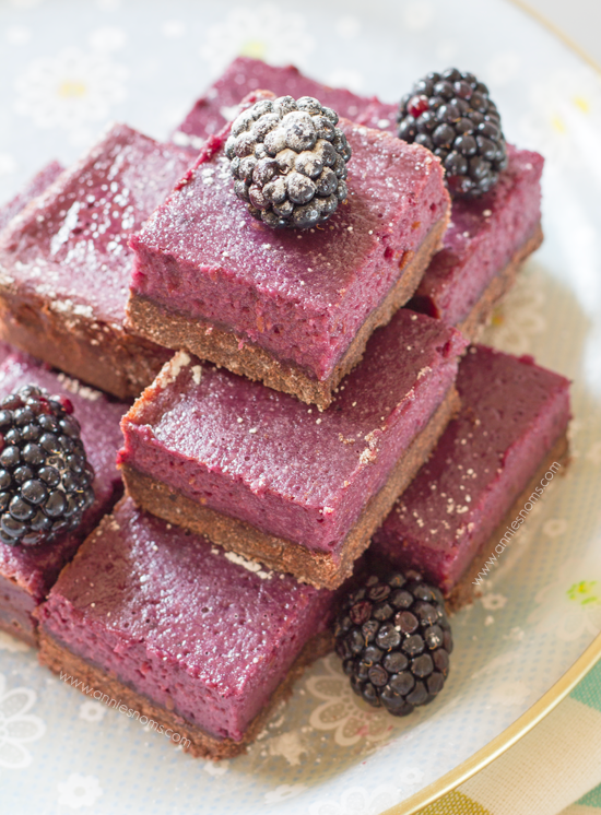 Chocolate and Blackberry Shortbread Bars   Annie's Noms