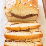 This Eggnog Loaf is soft, tender and has a rich, chocolate cream cheese layer baked into the centre, to add a contrast to the sweet eggnog!