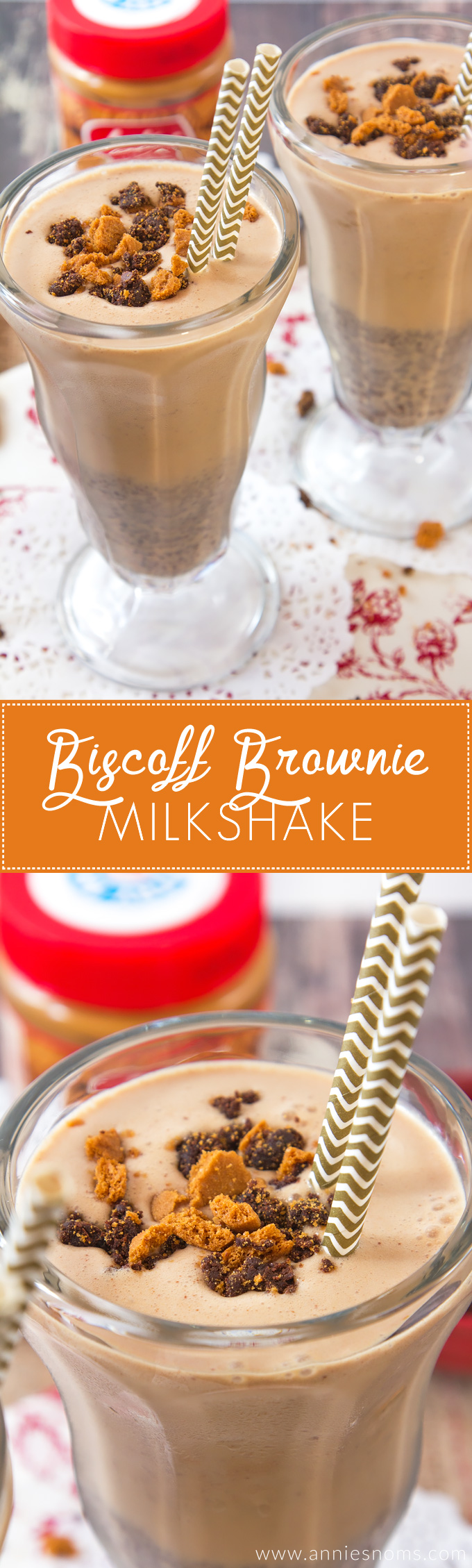 This Biscoff Brownie Milkshake is one super decadent, rich milkshake ...