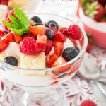 An easy, no bake Summer dessert marrying together yoghurt, cream, berries and cake! Easy to prep and perfect for a crowd!