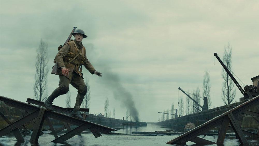 la scena del ponte di Ecoust nel film 1917 di Sam Mendes