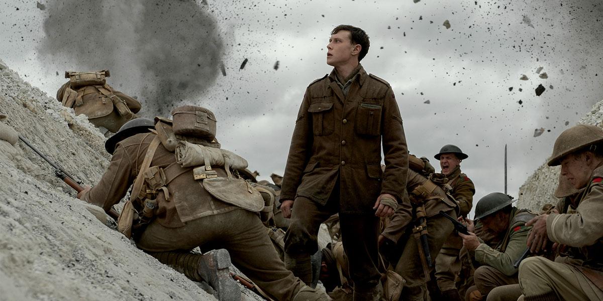 una scena in trincea dal film di guerra 1917