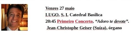 Festival  Órgano programa