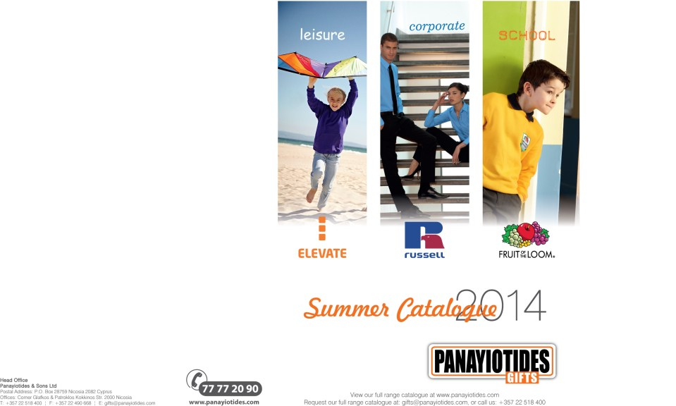 Panayiotides Catalogue Frontpage 185x260mm
