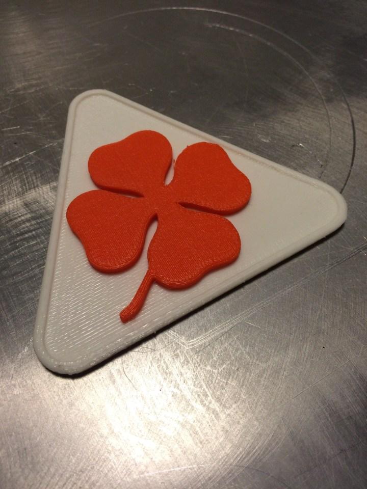 Custom orange Quadrifoglio with white triangular plate