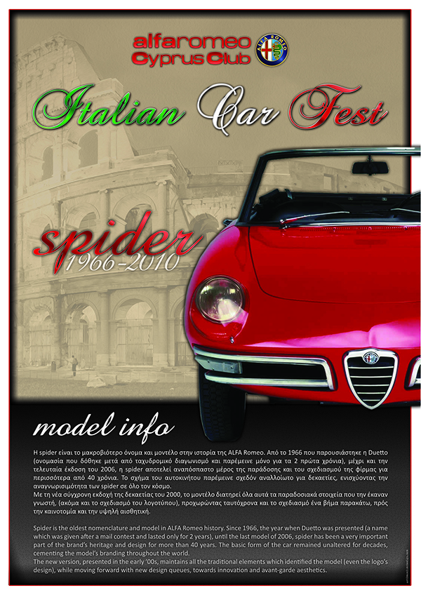 Spider Model Info - Car Fest 2013