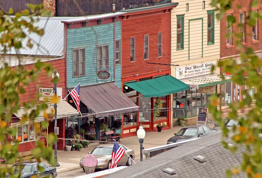 Downtown Lanesboro. Photo via Lanesboro Area Chamber of Commerce