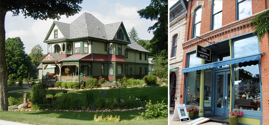 Habberstad House Bed and Breakfast and Lanesboro Arts downtown courtesy