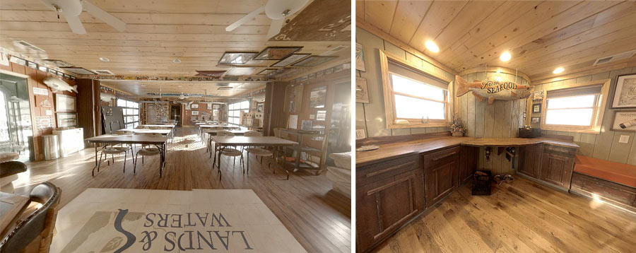 Classroom and galley on board