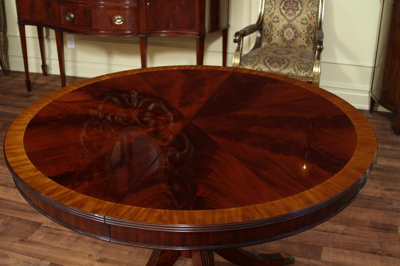 48 round dining table with leaf round mahogany dining table oval 5578