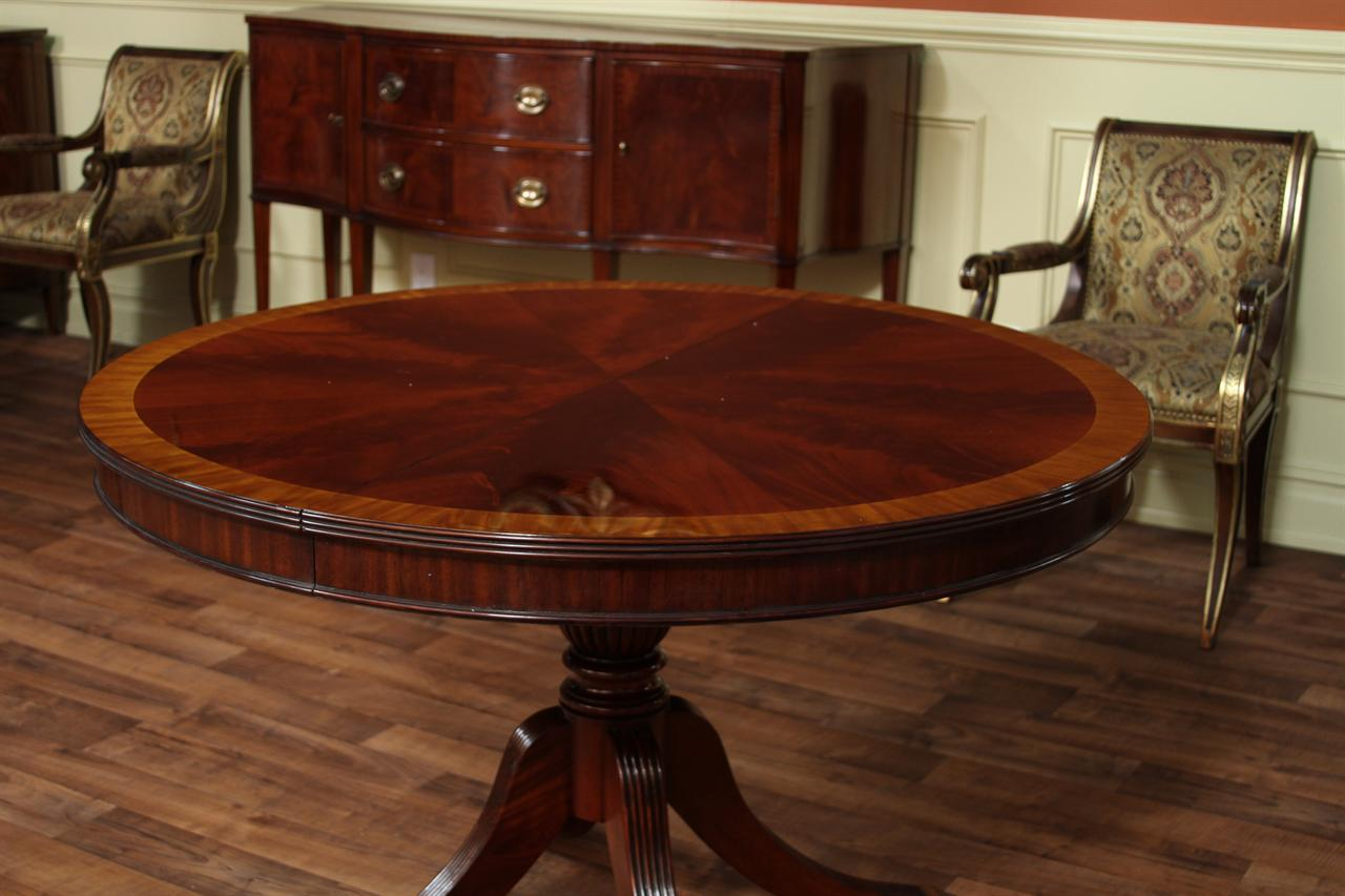 48 round dining table with leaf round mahogany dining table oval 5590