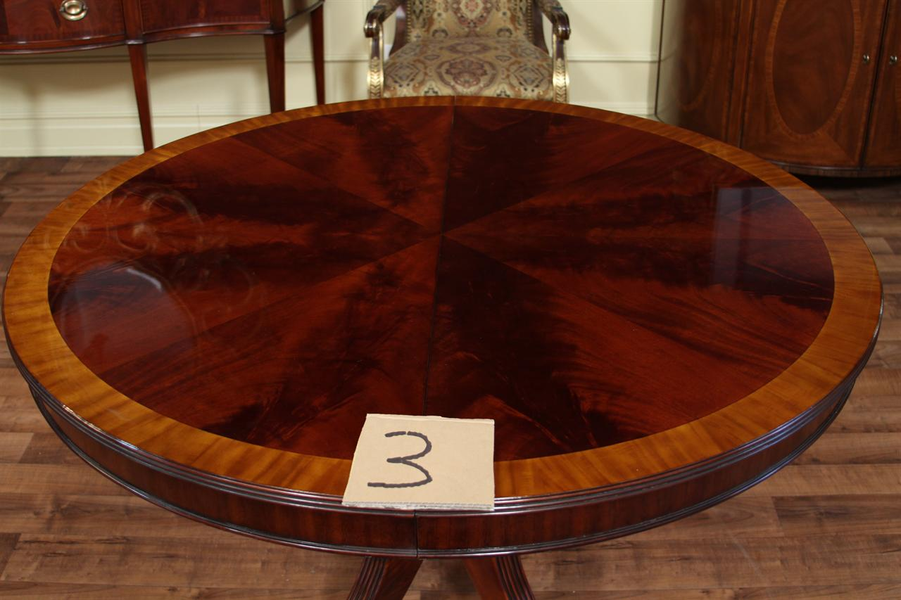 48 round dining table with leaf round mahogany dining table oval 5616