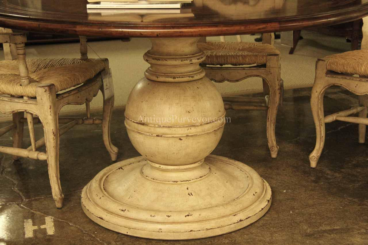 mahoganydining table round artdeco p round pedestal kitchen table Country mahogany kitchen table Painted pedestals are an option but they are sold under a different sku