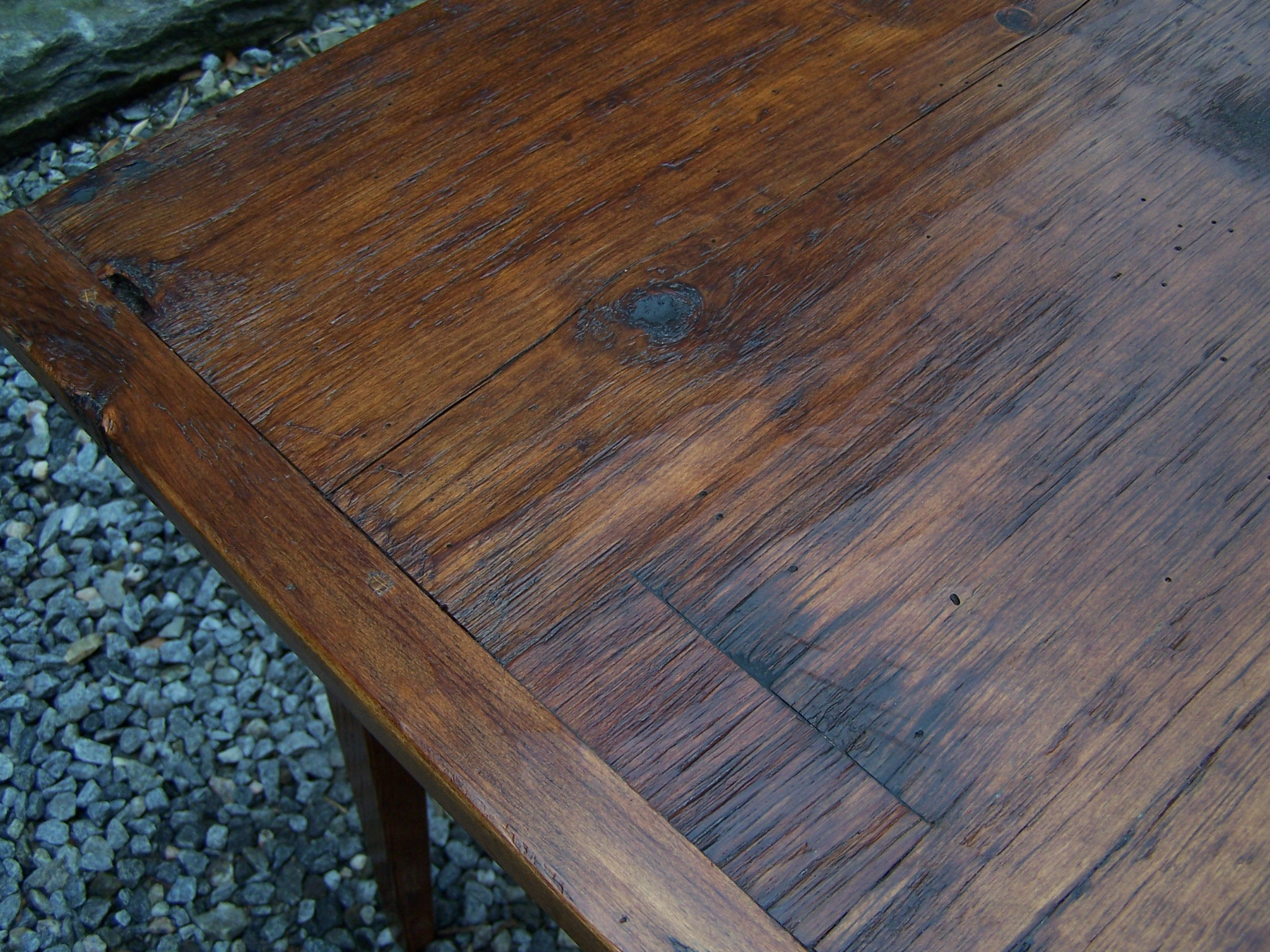 Antique Handmade New England pine country kitchen table kitchen tables for sale Handmade New England pine country kitchen table For Sale