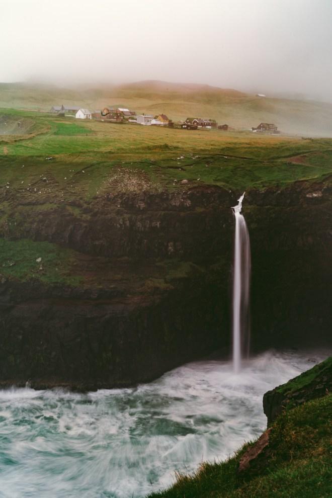 Vykort från Gásadalur – Färöarna