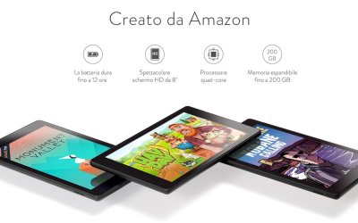 Nuovo Amazon Fire HD 8: batteria a più lunga durata, maggiore spazio di archiviazione e prestazioni migliori a partire da soli 109,99 euro