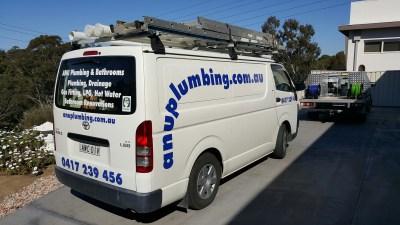 Plumbers Sydney: ANU Plumbing Sydney - Previous work Van