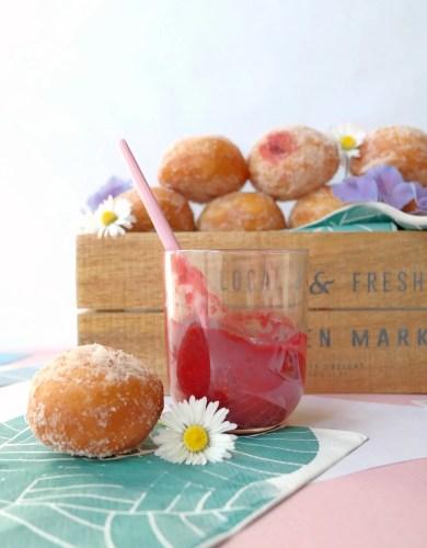Raspberry Chia Seed Jam Donuts