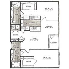 2222 Smith St Joy Floorplan 2-2 1182 sqft