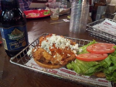 Crispy Buffalo Chicken Sandwich & India Pale Ale