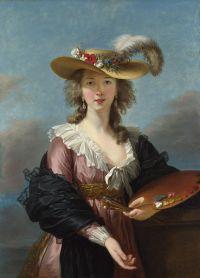 Self-portrait in a Straw Hat (after 1782) Élisabeth Louise Vigée-LeBrun (1755-1842) Wikimedia Commons