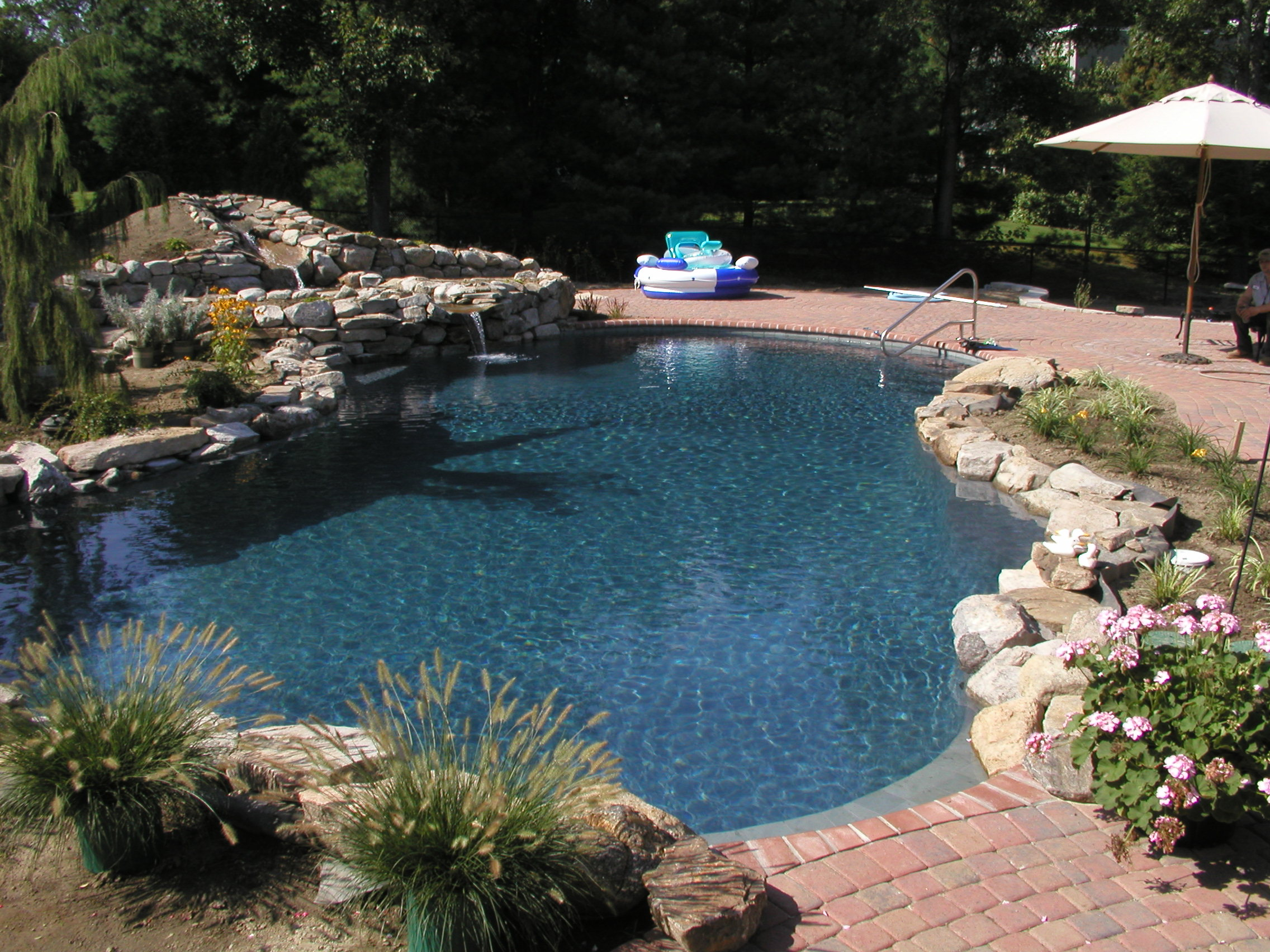waterfall on swimming pools a piece of paradise
