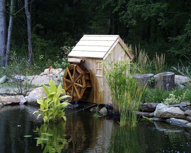 water wheel on pond 2