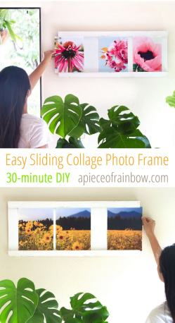 Antique Diy Frame Ideas Diy Frame Collage Part You Can Change All Photos Less Than Without Ever Taking This Frame Off Easy Sliding Collage Photo Frame Diy A Piece