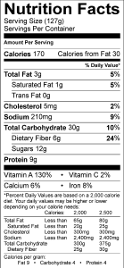 nutrition-facts-label-for-pumpkin-french-toast