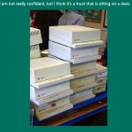 Stack of Apple IIGS cases