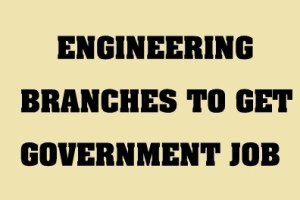 Engineering Branch for Govt Job banner